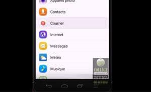 courriel mobile