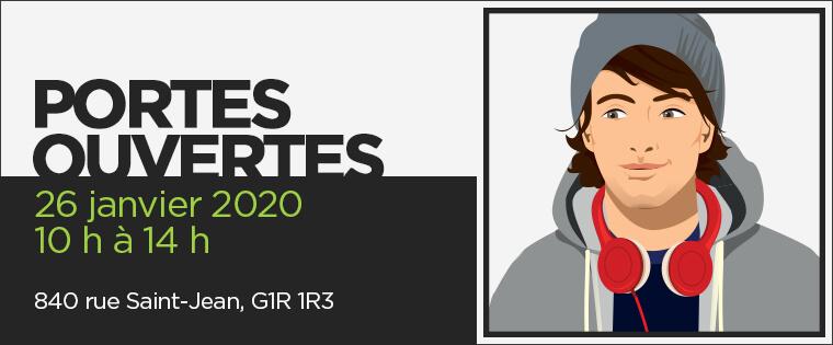 Portes ouvertes : 26 janvier 2020